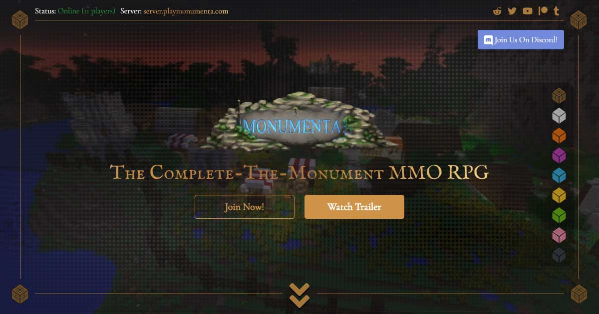 Monumenta · The Complete-The-Monument MMO RPG